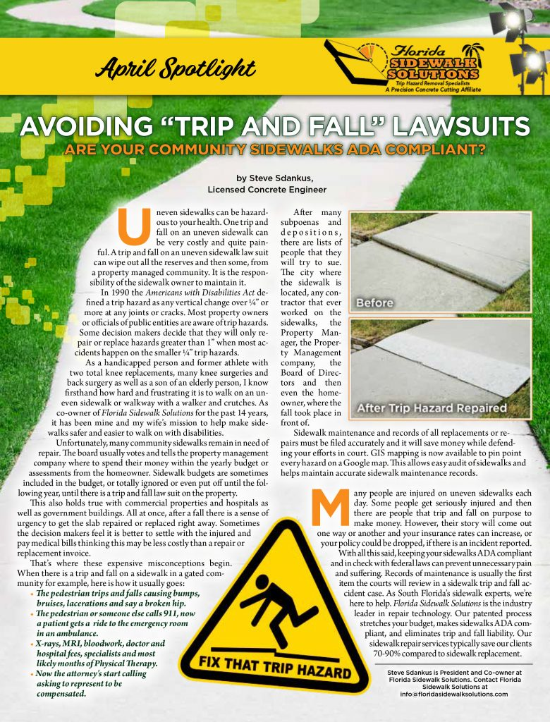 Avoiding Trip and Fall Lawsuits