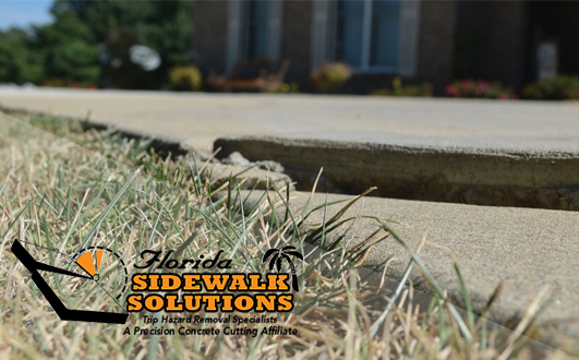 Concrete Sidewalk Crack Repair