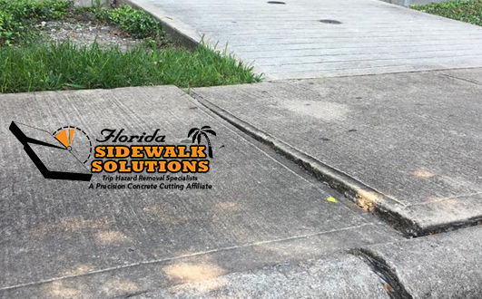 Commercial Sidewalk Trip Hazard Repair South Florida