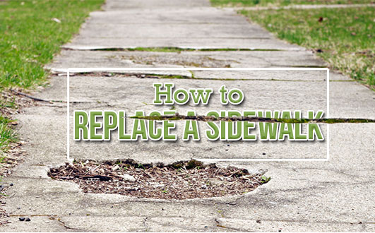 How to Repair or Replace a Concrete Sidewalk