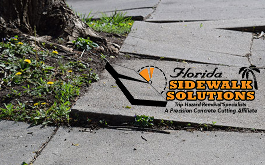 Uneven Concrete Sidewalk